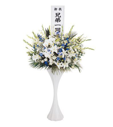 洋花一段生花 ブルー